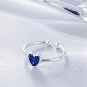 Hot Sale New Fashion Blue Heart Ope..