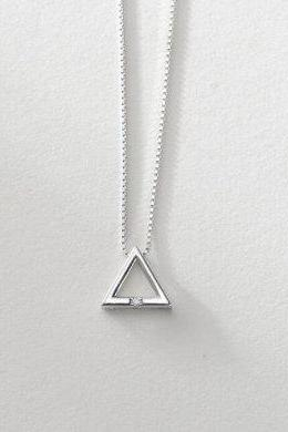 New Fashion Geometric Triangle Pendant Necklace,925 Sterling Silver,Minimalist Necklace,Boho Necklace,Gift for her, Bridesmaids Jewellery.