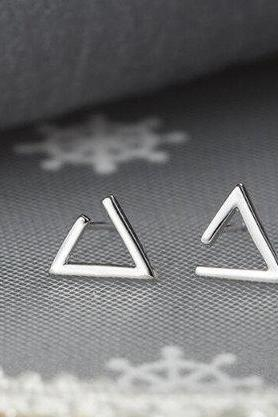 Personality Geometric Triangle Simple Earring,925 Sterling Silver,Minimalist Earring, Boho Earring,Tiny Earring,Gift For her, Jewellery.