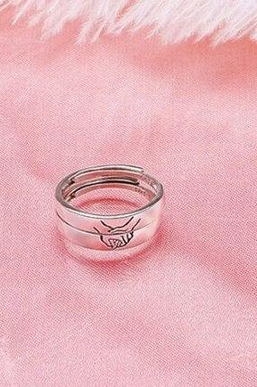 New Romantic Cute Holder Hand Couple Trendy Ring , 925 Sterling Silver,Adjustable ring,Dainty Ring, Gift for her, Minimalist Ring, Boho Ring
